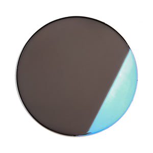 216 - Smoke Solid Flat Flash Blue Lens