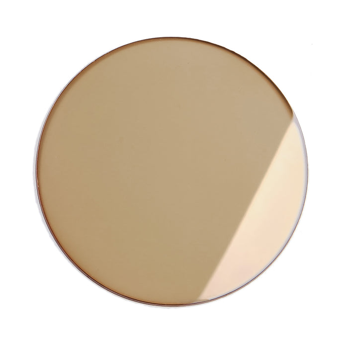 226 - Gold Dust Solid Flat Flash Gold Lens