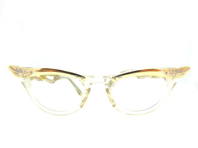 Baby 50s Yellow Cat Eye Front