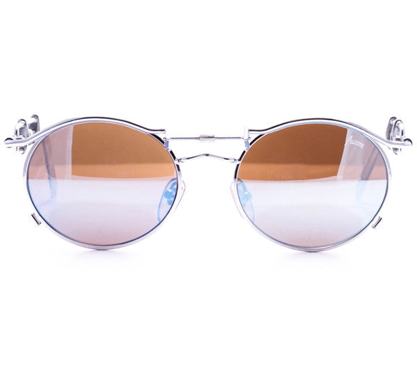 Vintage Action 2607 Brushed Silver Sunglasses Front