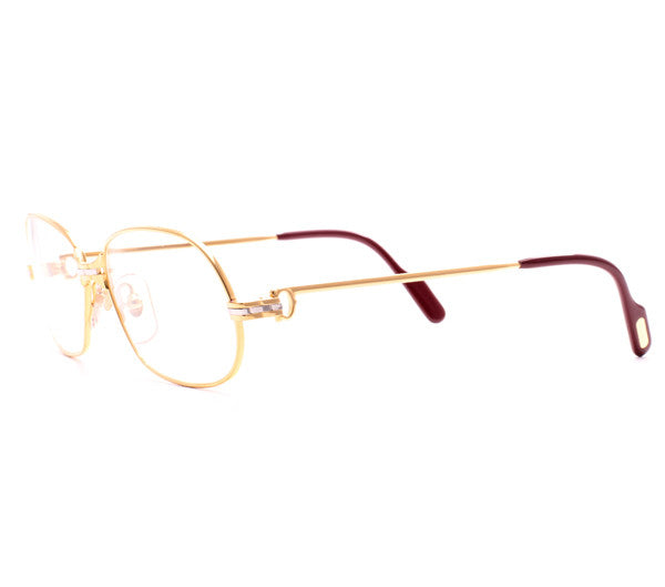 a3862f8014003 Vintage Frames Company Cartier Panthere PM Sunglasses Gold Side