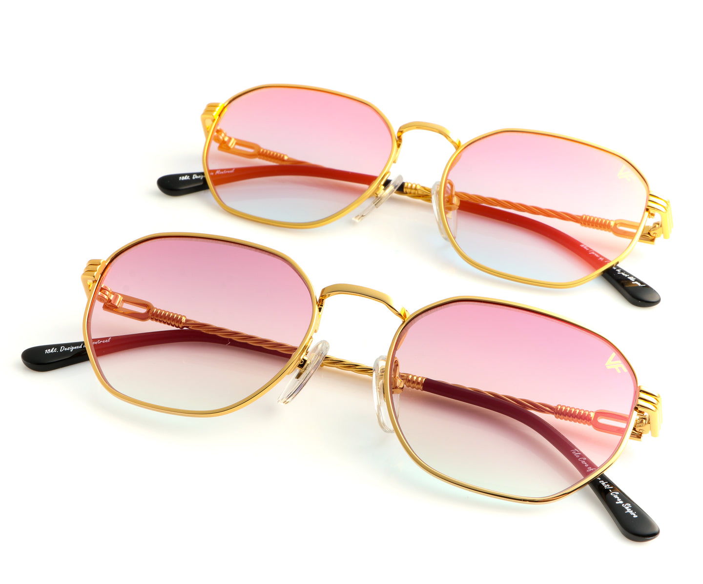 VF Father & Son Detroit Player 18KT Gold (Pink Pop), VF Kids , glasses frames, eyeglasses online, eyeglass frames, mens glasses, womens glasses, buy glasses online, designer eyeglasses, vintage sunglasses, retro sunglasses, vintage glasses, sunglass, eyeglass, glasses, lens, vintage frames company, vf