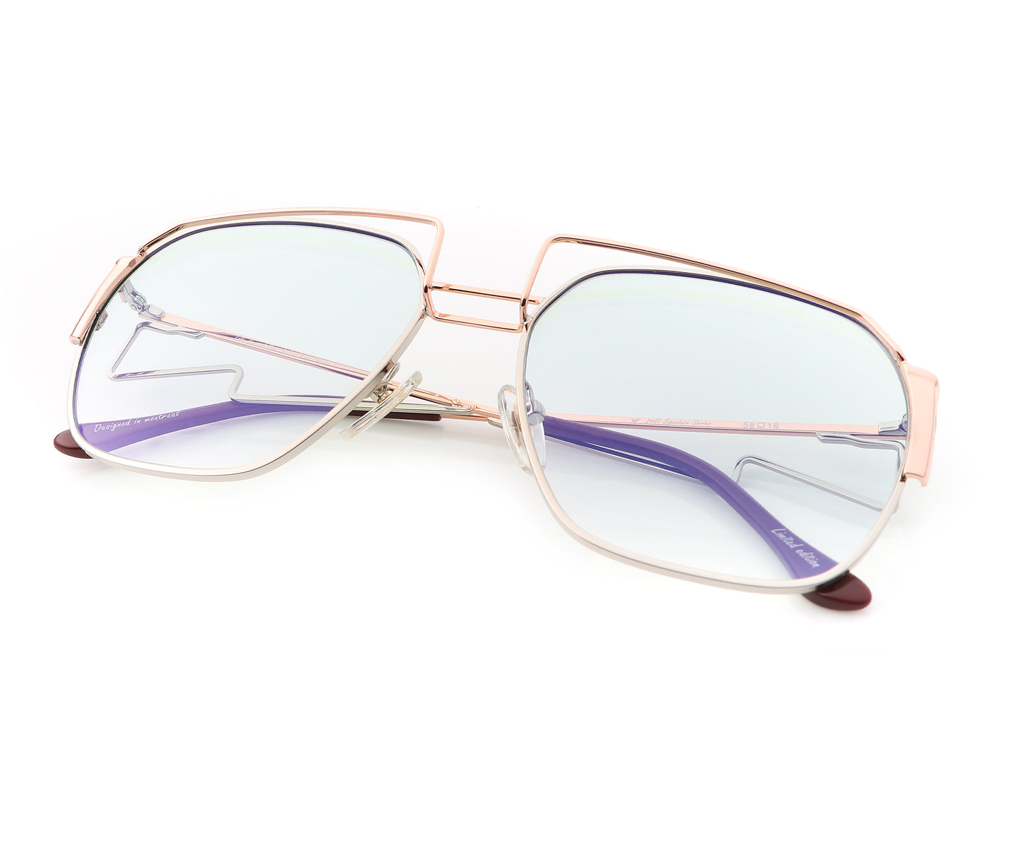 Geometric Collection: Executive 24KT Rose Gold Two-Tone (Powder Green), VF Masterpiece , glasses frames, eyeglasses online, eyeglass frames, mens glasses, womens glasses, buy glasses online, designer eyeglasses, vintage sunglasses, retro sunglasses, vintage glasses, sunglass, eyeglass, glasses, lens, vintage frames company, vf