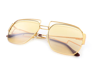 Geometric Collection: Executive 24KT Gold (Amber), VF Masterpiece, glasses frames, eyeglasses online, eyeglass frames, mens glasses, womens glasses, buy glasses online, designer eyeglasses, vintage sunglasses, retro sunglasses, vintage glasses, sunglass, eyeglass, glasses, lens, vintage frames company, vf