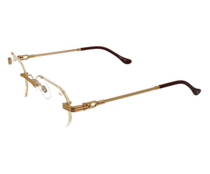 VF Hustler Drill Mount 24KT Gold (Clear), VF Drill Mount, glasses frames, eyeglasses online, eyeglass frames, mens glasses, womens glasses, buy glasses online, designer eyeglasses, vintage sunglasses, retro sunglasses, vintage glasses, sunglass, eyeglass, glasses, lens, vintage frames company, vf