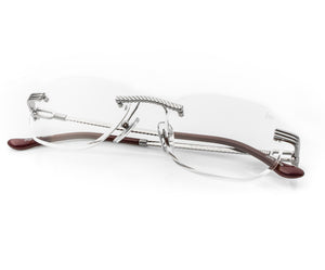 VF Hustler Drill Mount 24KT White Gold (Clear), VF Drill Mount, glasses frames, eyeglasses online, eyeglass frames, mens glasses, womens glasses, buy glasses online, designer eyeglasses, vintage sunglasses, retro sunglasses, vintage glasses, sunglass, eyeglass, glasses, lens, vintage frames company, vf
