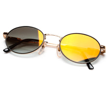 "VF by Vintage Frames Detroit Player The ""D"" Grail (Black Gradient Flash Gold Flat Lens) Thumbnail"