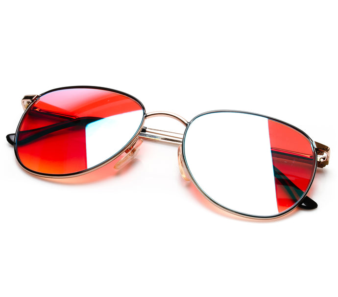 VF by Vintage Frames 22kt Gemini (Candy Red Gradient Yellow Multi Lens) Thumbnail