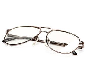 VF by Vintage Frames Grand Master Snatch Drip Platinum (Clear Flash Silver Lens)