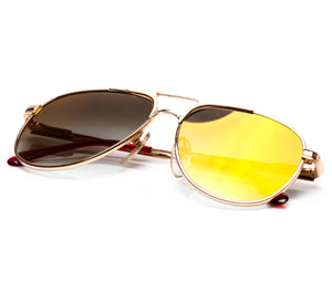 VF by Vintage Frames Grand Master Snatch Drip OG (Black Gradient Flash Gold Lens) Thumbnail