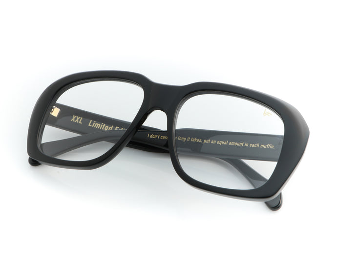 VF XXL Black (Clear), VF Masterpiece, vintage frames, vintage frame, vintage sunglasses, vintage glasses, retro sunglasses, retro glasses, vintage glasses, vintage designer sunglasses, vintage design glasses, eyeglass frames, glasses frames, sunglass frames, sunglass, eyeglass, glasses, lens, jewelry, vintage frames company, vf