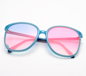 VF by Vintage Frames Ivy (Blue Pink Multi Flash Flat Lens)