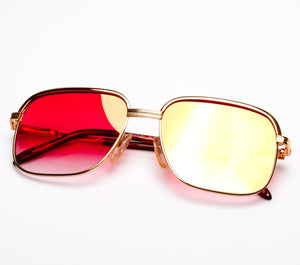Bentley Set 28 GOLD (Red Gradient Flash Gold Flat Lens), Bentley, vintage frames, vintage frame, vintage sunglasses, vintage glasses, retro sunglasses, retro glasses, vintage glasses, vintage designer sunglasses, vintage design glasses, eyeglass frames, glasses frames, sunglass frames, sunglass, eyeglass, glasses, lens, jewelry, vintage frames company, vf