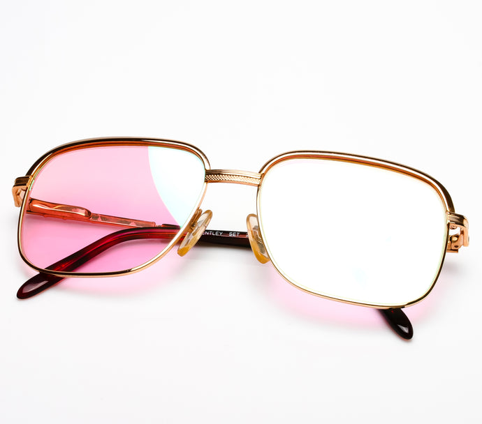 Bentley Set 28 GOLD (Pink Multi Flash Flat Lens) Thumbnail, Bentley, vintage frames, vintage frame, vintage sunglasses, vintage glasses, retro sunglasses, retro glasses, vintage glasses, vintage designer sunglasses, vintage design glasses, eyeglass frames, glasses frames, sunglass frames, sunglass, eyeglass, glasses, lens, jewelry, vintage frames company, vf