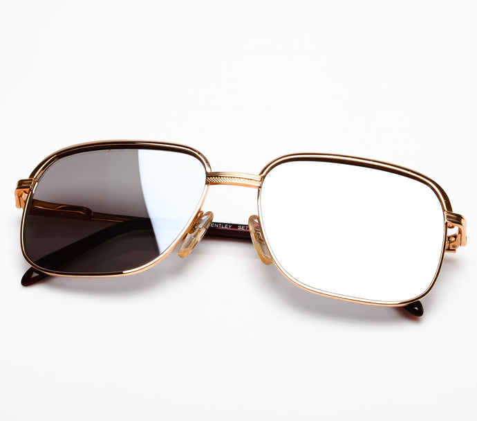 Bentley Set 28 GOLD (Dark Smoke Mirror Flat Lens) Thumbnail, Bentley, vintage frames, vintage frame, vintage sunglasses, vintage glasses, retro sunglasses, retro glasses, vintage glasses, vintage designer sunglasses, vintage design glasses, eyeglass frames, glasses frames, sunglass frames, sunglass, eyeglass, glasses, lens, jewelry, vintage frames company, vf