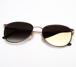 Lennon 10 C3 (Black Gradient Flash Gold Flat Lens)