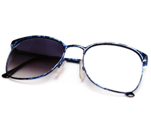 VF by Vintage Frames 90210 Blue Marble (Grey Gradient Flash Blue Flat Lens)