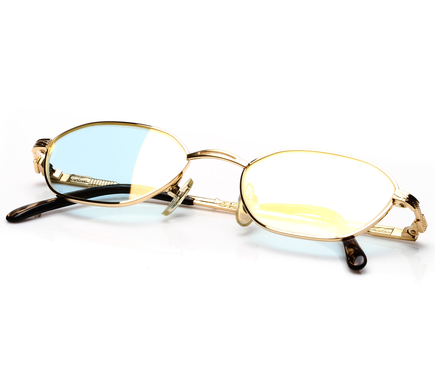 Paolo Gucci PG 7307 (Light Blue Flash Gold) Thumbnail, Paolo Gucci , glasses frames, eyeglasses online, eyeglass frames, mens glasses, womens glasses, buy glasses online, designer eyeglasses, vintage sunglasses, retro sunglasses, vintage glasses, sunglass, eyeglass, glasses, lens, vintage frames company, vf
