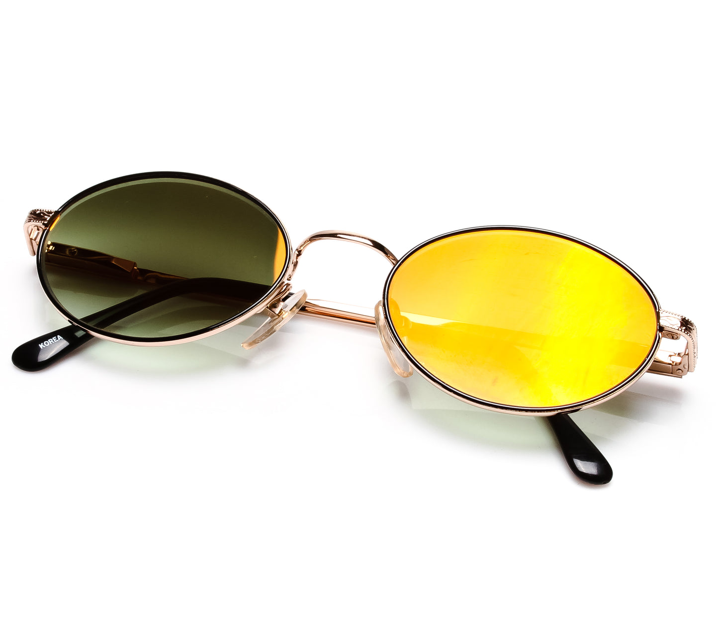VF by Vintage Frames The Firm Grail (Moss Green Flash Gold Flat Lens) Thumbnail
