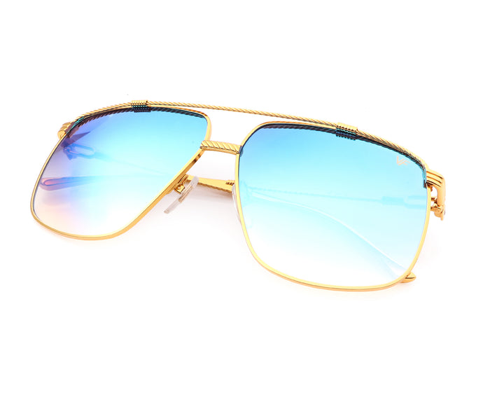 VF Cash 24KT Gold (Electric Blue Peach Multi Flash Gradient), VF Masterpiece, vintage frames, vintage frame, vintage sunglasses, vintage glasses, retro sunglasses, retro glasses, vintage glasses, vintage designer sunglasses, vintage design glasses, eyeglass frames, glasses frames, sunglass frames, sunglass, eyeglass, glasses, lens, jewelry, vintage frames company, vf