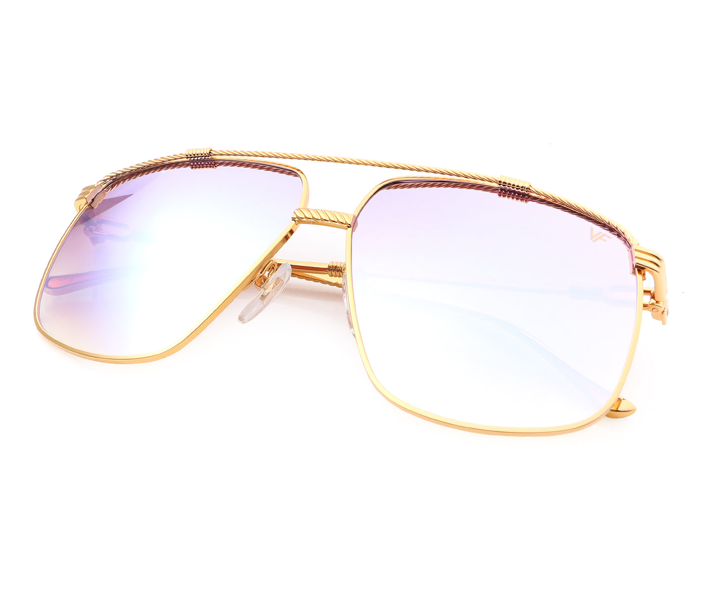 VF Cash XL 24KT Gold (Electric Purple Multi Flash Gradient), VF Masterpiece , glasses frames, eyeglasses online, eyeglass frames, mens glasses, womens glasses, buy glasses online, designer eyeglasses, vintage sunglasses, retro sunglasses, vintage glasses, sunglass, eyeglass, glasses, lens, vintage frames company, vf