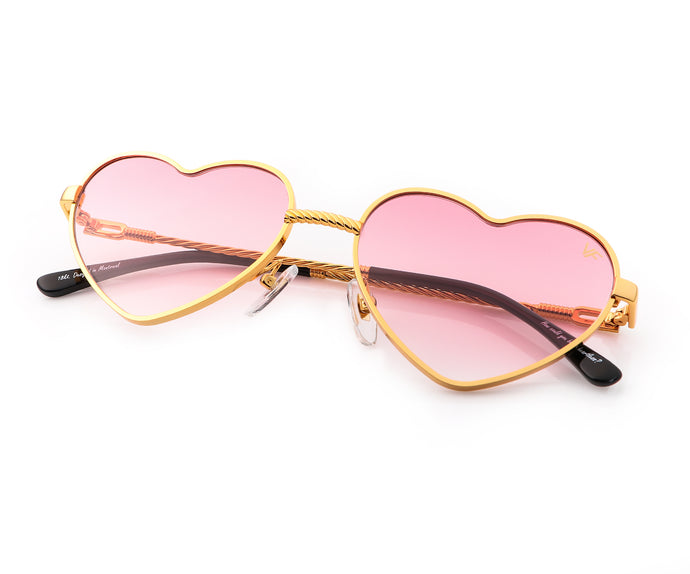I ❤️  VF Sunglasses 18KT Gold (Pastel Pink), VF Masterpiece, vintage frames, vintage frame, vintage sunglasses, vintage glasses, retro sunglasses, retro glasses, vintage glasses, vintage designer sunglasses, vintage design glasses, eyeglass frames, glasses frames, sunglass frames, sunglass, eyeglass, glasses, lens, jewelry, vintage frames company, vf