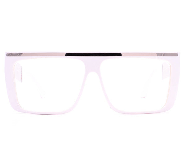 Vintage Frames by Corey Shapiro Love/Hate II White/Silver Front