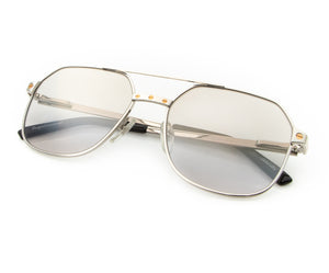 Love Collection: Escobar 24KT White Gold (Smoke Gray), VF Masterpiece, glasses frames, eyeglasses online, eyeglass frames, mens glasses, womens glasses, buy glasses online, designer eyeglasses, vintage sunglasses, retro sunglasses, vintage glasses, sunglass, eyeglass, glasses, lens, vintage frames company, vf