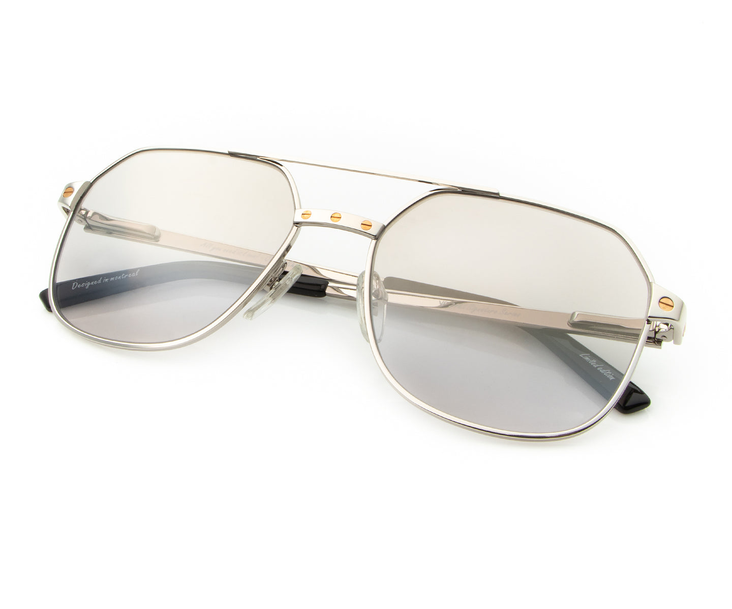 Love Collection: Escobar 24KT White Gold (Smoke Gray), VF Masterpiece , glasses frames, eyeglasses online, eyeglass frames, mens glasses, womens glasses, buy glasses online, designer eyeglasses, vintage sunglasses, retro sunglasses, vintage glasses, sunglass, eyeglass, glasses, lens, vintage frames company, vf
