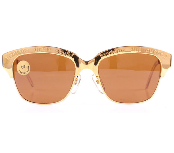 Moschino M257 Gold Front, Moschino, vintage frames, vintage frame, vintage sunglasses, vintage glasses, retro sunglasses, retro glasses, vintage glasses, vintage designer sunglasses, vintage design glasses, eyeglass frames, glasses frames, sunglass frames, sunglass, eyeglass, glasses, lens, jewelry, vintage frames company, vf