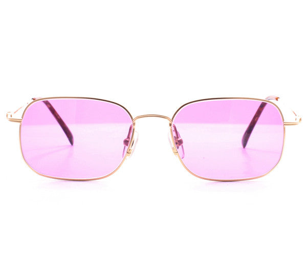 Vintage Paolo Gucci 7415 21k Gold Plated Sunglasses Front