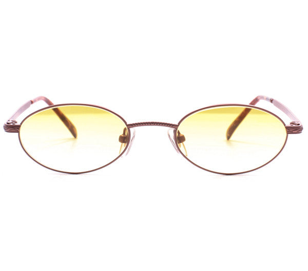 Vintage Paolo Gucci 7441 21k Gold Plated Sunglasses Front