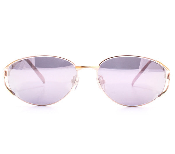 Vintage Paolo Gucci 8103 H1N1 21k Gold Plated Sunglasses Front