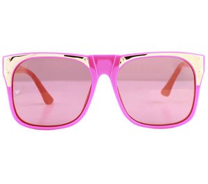 Vintage Frames by Corey Shapiro Rude Metal Hot Pink Front, Vintage Frames by Corey Shapiro, glasses frames, eyeglasses online, eyeglass frames, mens glasses, womens glasses, buy glasses online, designer eyeglasses, vintage sunglasses, retro sunglasses, vintage glasses, sunglass, eyeglass, glasses, lens, vintage frames company, vf
