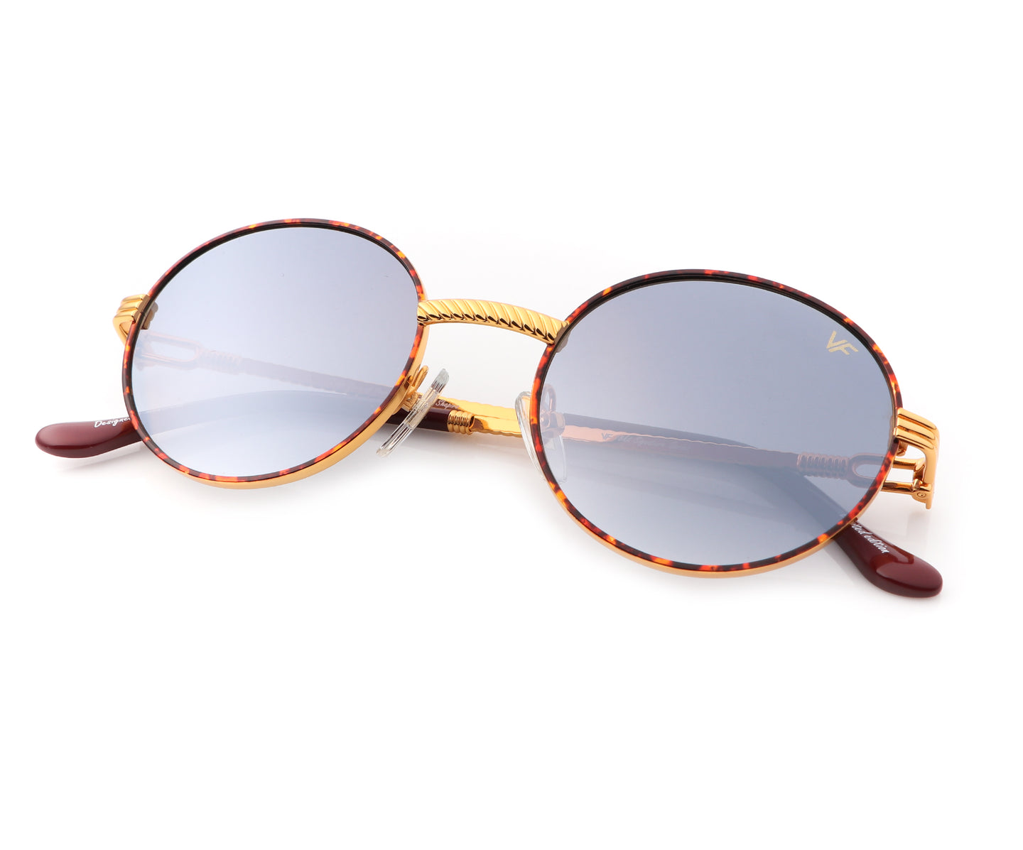 VF 508 Tortoise 18KT Gold (Gray / Blue Gradient), VF by Vintage Frames , glasses frames, eyeglasses online, eyeglass frames, mens glasses, womens glasses, buy glasses online, designer eyeglasses, vintage sunglasses, retro sunglasses, vintage glasses, sunglass, eyeglass, glasses, lens, vintage frames company, vf