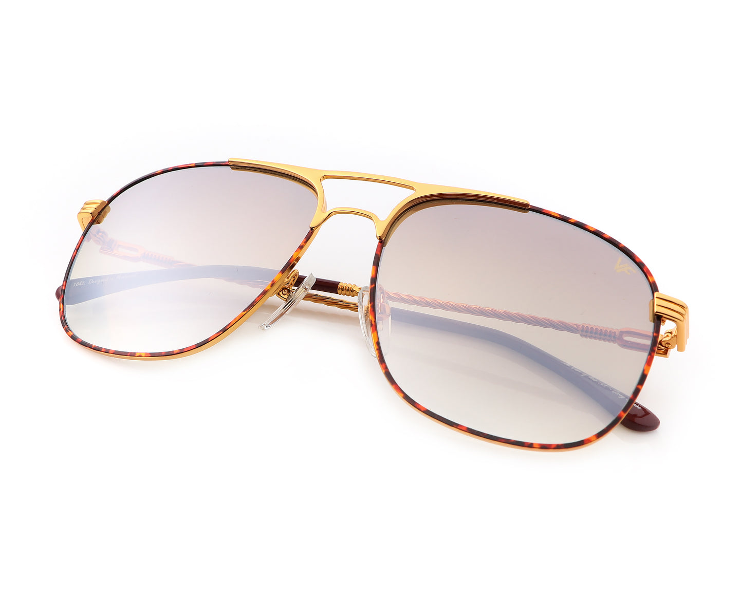 VF Snatch Tortoise 18KT Gold (Brown / Gray Gradient), VF by Vintage Frames , glasses frames, eyeglasses online, eyeglass frames, mens glasses, womens glasses, buy glasses online, designer eyeglasses, vintage sunglasses, retro sunglasses, vintage glasses, sunglass, eyeglass, glasses, lens, vintage frames company, vf