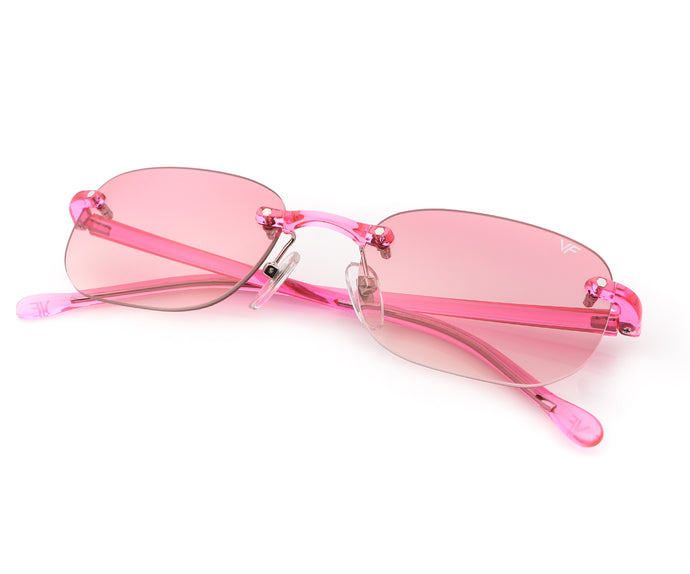 VF Uncut Gems Pink (Light Pink Gradient), VF Drill Mount, vintage frames, vintage frame, vintage sunglasses, vintage glasses, retro sunglasses, retro glasses, vintage glasses, vintage designer sunglasses, vintage design glasses, eyeglass frames, glasses frames, sunglass frames, sunglass, eyeglass, glasses, lens, jewelry, vintage frames company, vf