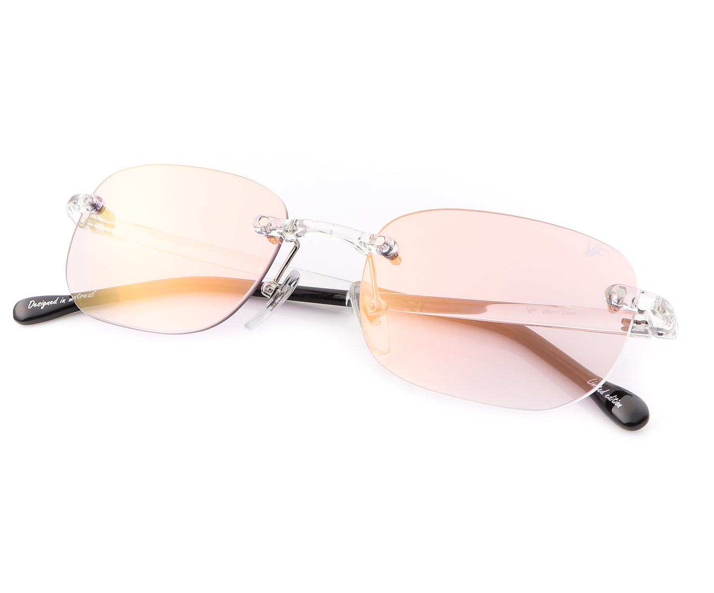 VF Uncut Gems (Pink Gradient), VF by Vintage Frames , glasses frames, eyeglasses online, eyeglass frames, mens glasses, womens glasses, buy glasses online, designer eyeglasses, vintage sunglasses, retro sunglasses, vintage glasses, sunglass, eyeglass, glasses, lens, vintage frames company, vf
