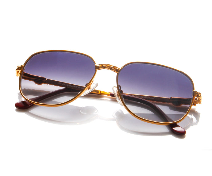 VF Executive Masterpiece 24KT Gold (Blue Gradient) Thumbnail, VF Masterpiece, vintage frames, vintage frame, vintage sunglasses, vintage glasses, retro sunglasses, retro glasses, vintage glasses, vintage designer sunglasses, vintage design glasses, eyeglass frames, glasses frames, sunglass frames, sunglass, eyeglass, glasses, lens, jewelry, vintage frames company, vf