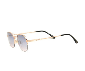 VF Detroit Player Half Rim 18KT Rose Gold (Black / Pink) Side, VF by Vintage Frames, glasses frames, eyeglasses online, eyeglass frames, mens glasses, womens glasses, buy glasses online, designer eyeglasses, vintage sunglasses, retro sunglasses, vintage glasses, sunglass, eyeglass, glasses, lens, vintage frames company, vf