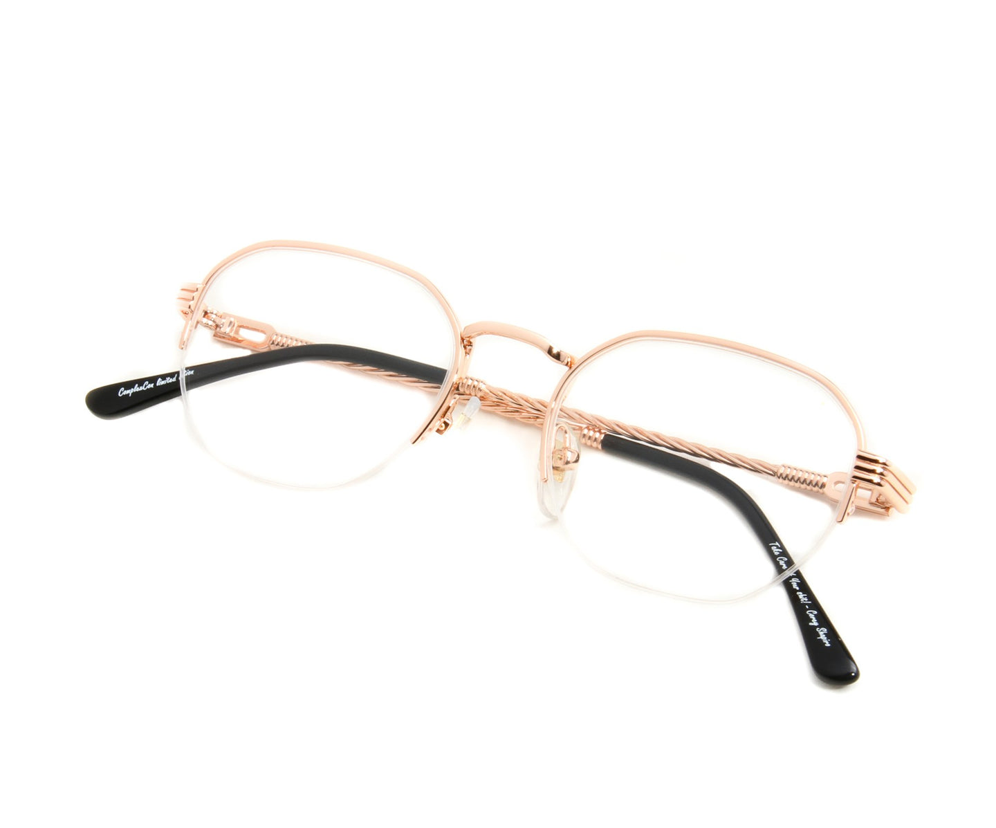 VF Detroit Player Half Rim 18KT Rose Gold (Clear) Thumb, VF by Vintage Frames , glasses frames, eyeglasses online, eyeglass frames, mens glasses, womens glasses, buy glasses online, designer eyeglasses, vintage sunglasses, retro sunglasses, vintage glasses, sunglass, eyeglass, glasses, lens, vintage frames company, vf