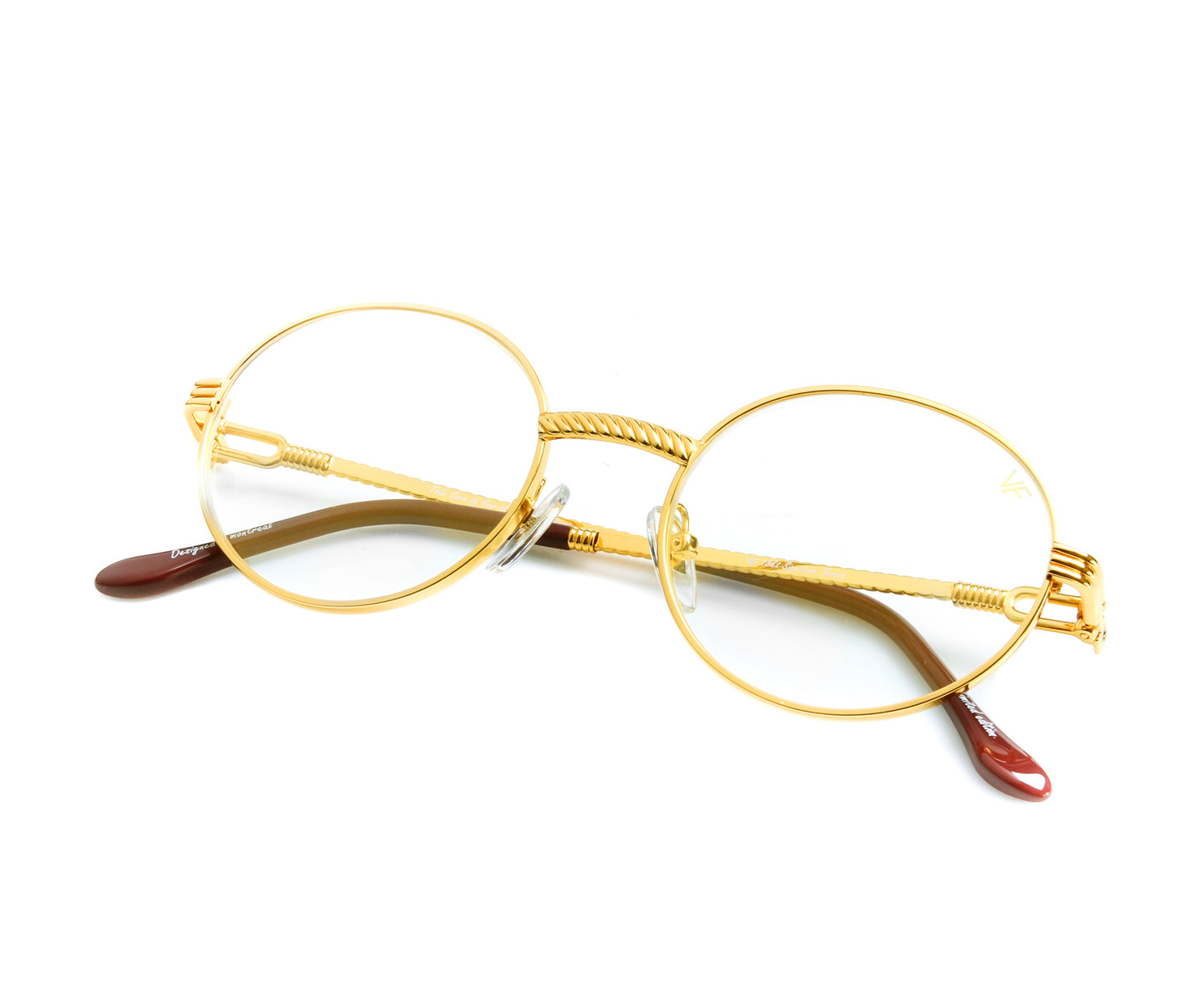 VF 508 18KT Gold (Clear), VF by Vintage Frames , glasses frames, eyeglasses online, eyeglass frames, mens glasses, womens glasses, buy glasses online, designer eyeglasses, vintage sunglasses, retro sunglasses, vintage glasses, sunglass, eyeglass, glasses, lens, vintage frames company, vf