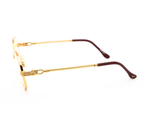 VF 508 18KT Gold (Flash Gold), VF by Vintage Frames, glasses frames, eyeglasses online, eyeglass frames, mens glasses, womens glasses, buy glasses online, designer eyeglasses, vintage sunglasses, retro sunglasses, vintage glasses, sunglass, eyeglass, glasses, lens, vintage frames company, vf