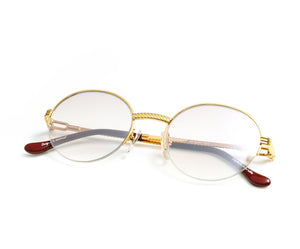 , VF 508 Half Rim 18KT Gold (Brown Smoke), VF by Vintage Frames, glasses frames, eyeglasses online, eyeglass frames, mens glasses, womens glasses, buy glasses online, designer eyeglasses, vintage sunglasses, retro sunglasses, vintage glasses, sunglass, eyeglass, glasses, lens, vintage frames company, vf