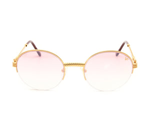 VF 508 Half Rim 18KT Gold (Nickel Pink) Front, VF by Vintage Frames, glasses frames, eyeglasses online, eyeglass frames, mens glasses, womens glasses, buy glasses online, designer eyeglasses, vintage sunglasses, retro sunglasses, vintage glasses, sunglass, eyeglass, glasses, lens, vintage frames company, vf