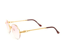 VF 508 Half Rim 18KT Gold (Nickel Pink) Side, VF by Vintage Frames, glasses frames, eyeglasses online, eyeglass frames, mens glasses, womens glasses, buy glasses online, designer eyeglasses, vintage sunglasses, retro sunglasses, vintage glasses, sunglass, eyeglass, glasses, lens, vintage frames company, vf