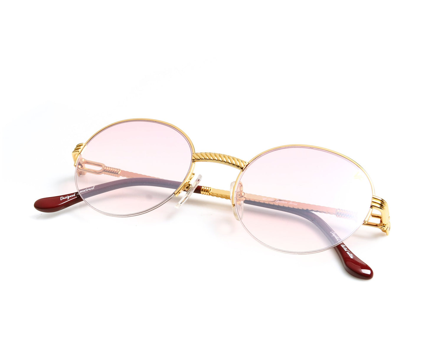 VF 508 Half Rim 18KT Gold (Nickel Pink) Thumb, VF by Vintage Frames , glasses frames, eyeglasses online, eyeglass frames, mens glasses, womens glasses, buy glasses online, designer eyeglasses, vintage sunglasses, retro sunglasses, vintage glasses, sunglass, eyeglass, glasses, lens, vintage frames company, vf