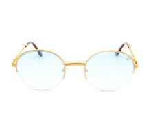 VF 508 Half Rim 18KT Gold (Tiffany Blue) Front, VF by Vintage Frames, glasses frames, eyeglasses online, eyeglass frames, mens glasses, womens glasses, buy glasses online, designer eyeglasses, vintage sunglasses, retro sunglasses, vintage glasses, sunglass, eyeglass, glasses, lens, vintage frames company, vf