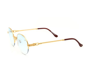 VF 508 Half Rim 18KT Gold (Tiffany Blue) Side, VF by Vintage Frames, glasses frames, eyeglasses online, eyeglass frames, mens glasses, womens glasses, buy glasses online, designer eyeglasses, vintage sunglasses, retro sunglasses, vintage glasses, sunglass, eyeglass, glasses, lens, vintage frames company, vf