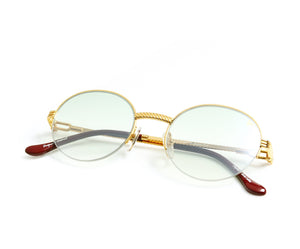 VF 508 Half Rim 18KT Gold (Powder Green) Thumb, VF by Vintage Frames, glasses frames, eyeglasses online, eyeglass frames, mens glasses, womens glasses, buy glasses online, designer eyeglasses, vintage sunglasses, retro sunglasses, vintage glasses, sunglass, eyeglass, glasses, lens, vintage frames company, vf
